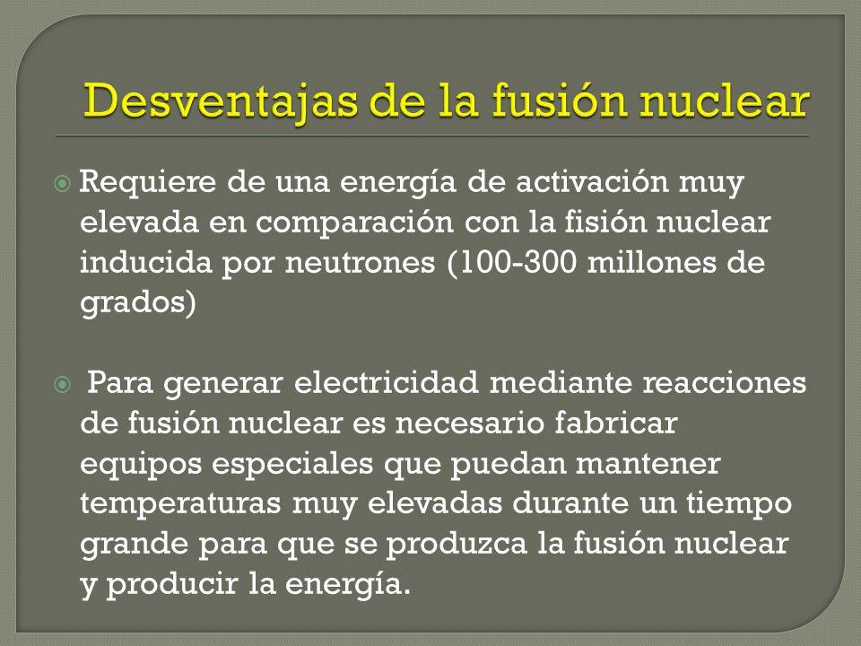 Desventajas de la fusión nuclear