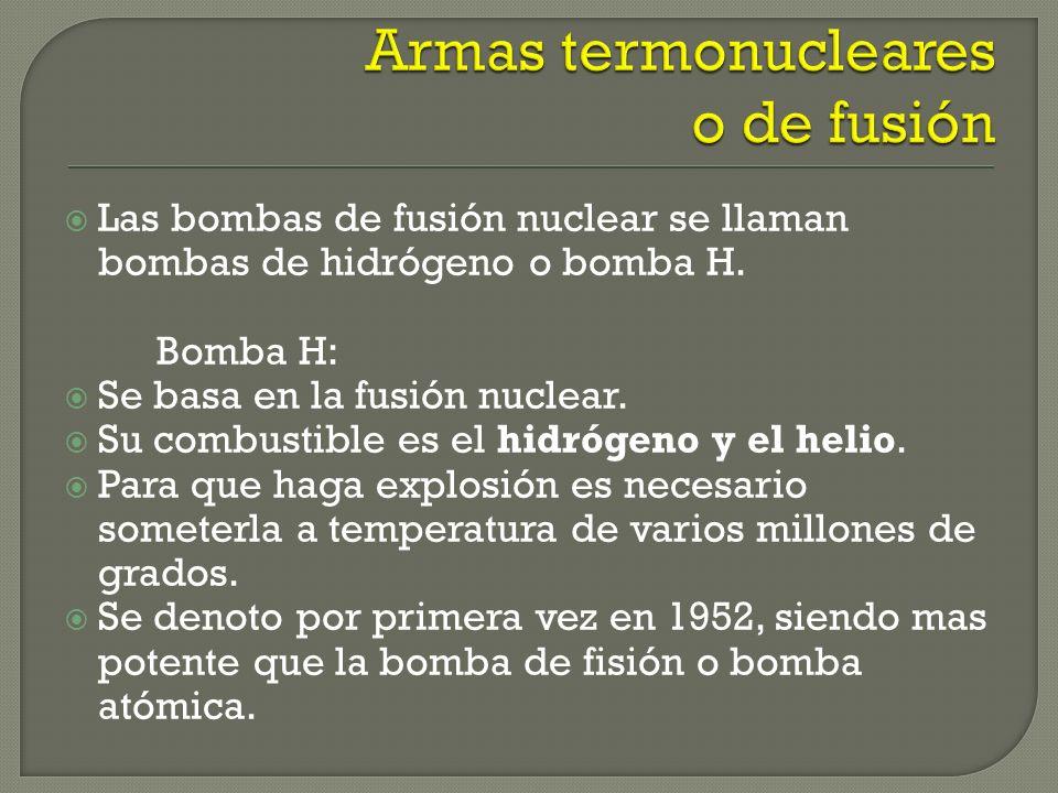 Armas termonucleares o de fusión