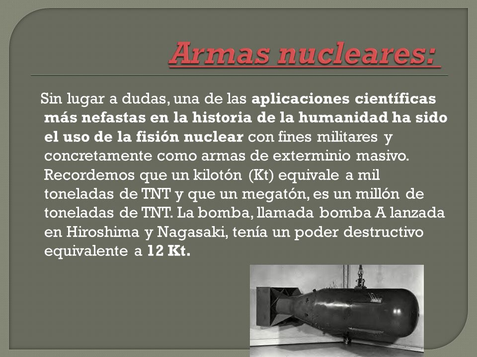 Armas nucleares: