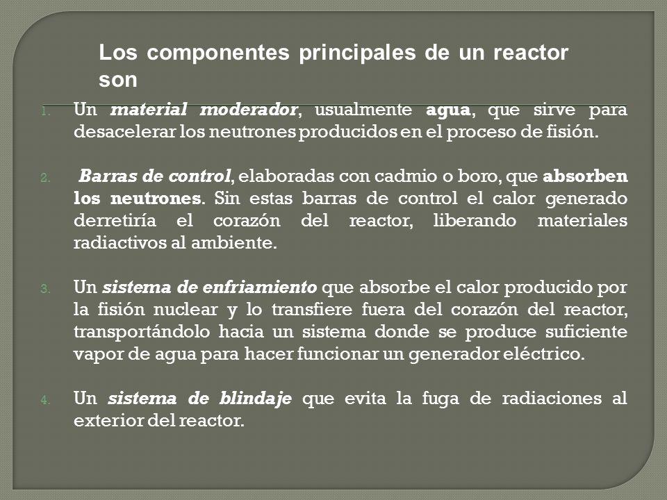 Los componentes principales de un reactor son