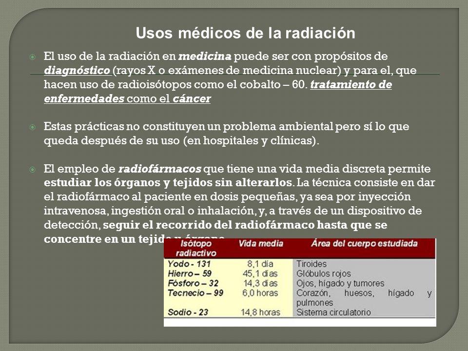 Usos médicos de la radiación