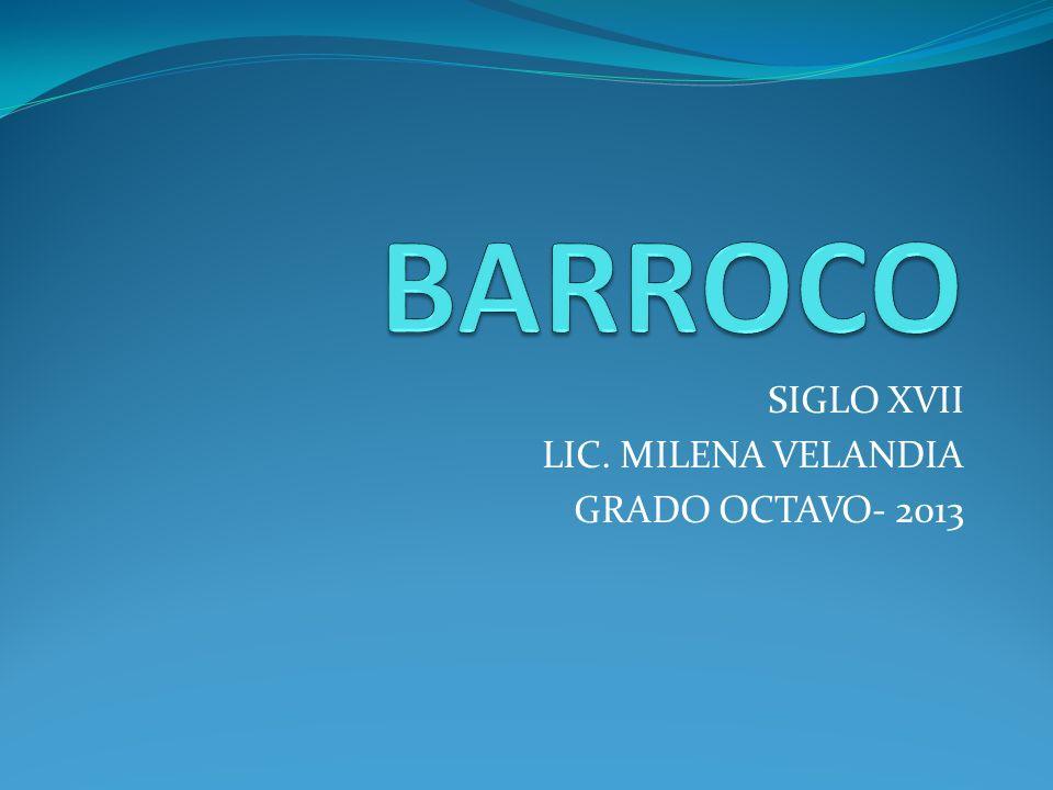 SIGLO XVII LIC. MILENA VELANDIA GRADO OCTAVO- 2013