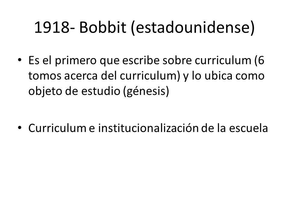 1918- Bobbit (estadounidense)