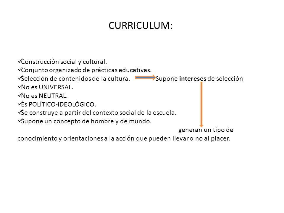 CURRICULUM: Construcción social y cultural.