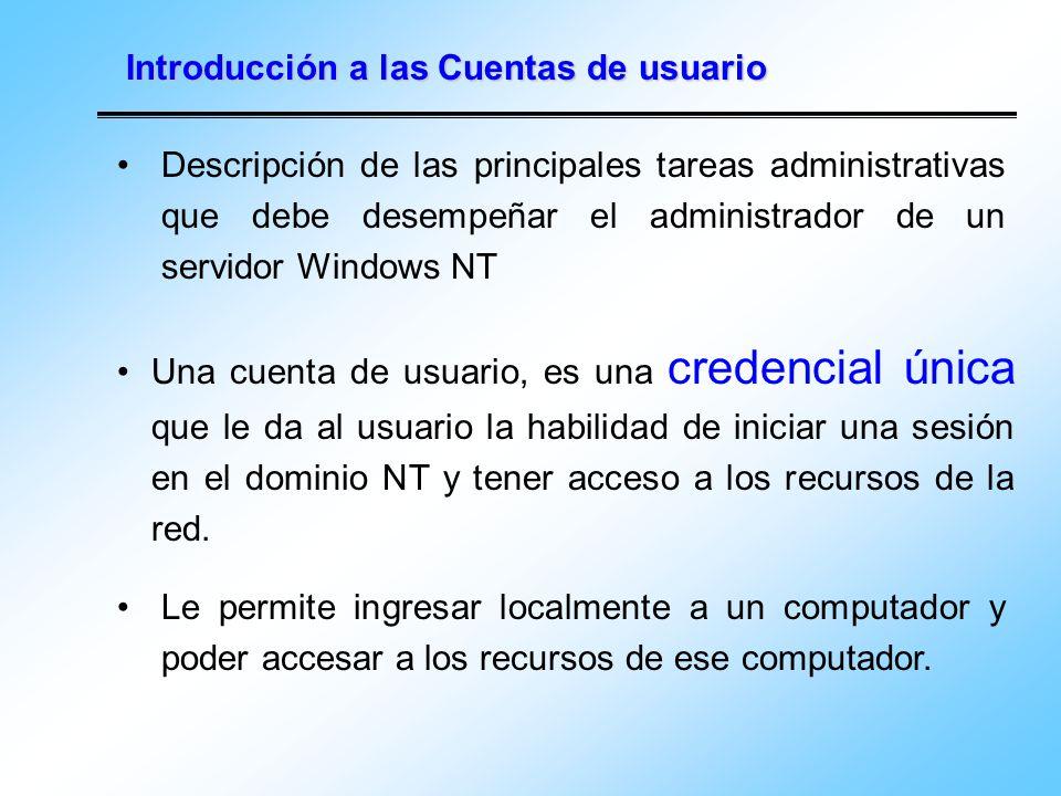 Introducción a las Cuentas de usuario
