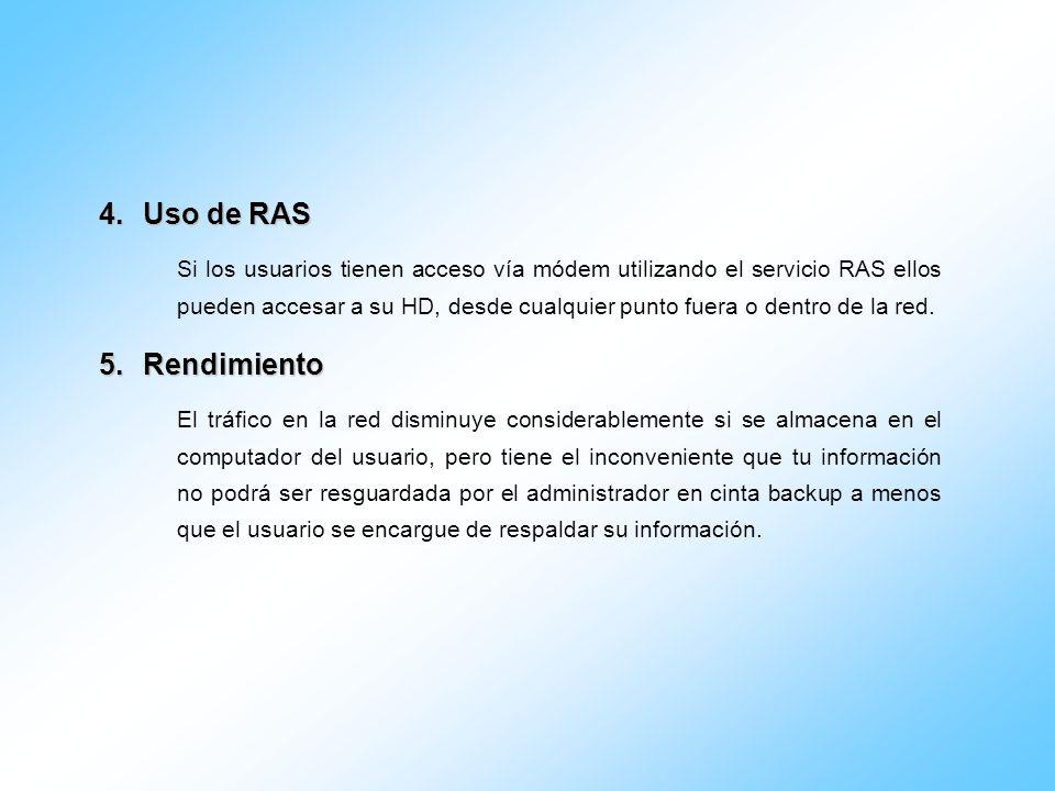Uso de RAS