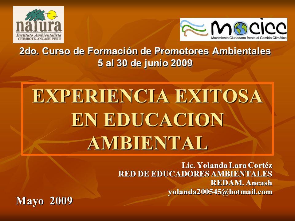 EXPERIENCIA EXITOSA EN EDUCACION AMBIENTAL