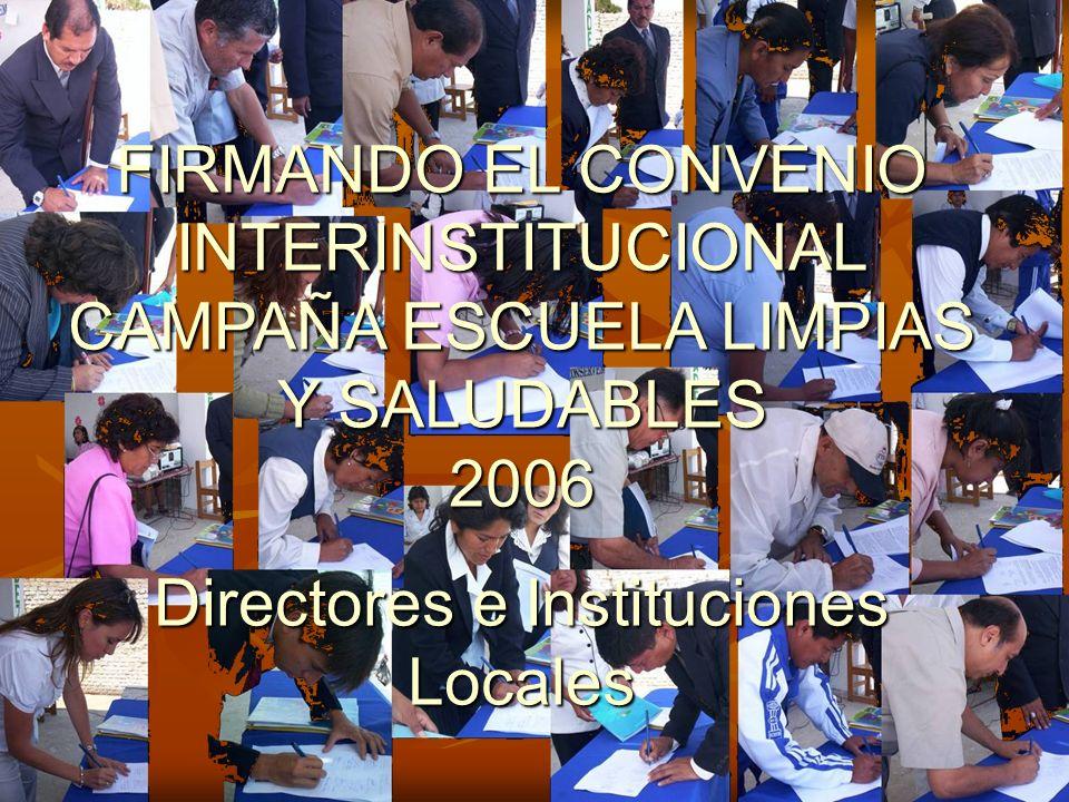 Directores e Instituciones Locales