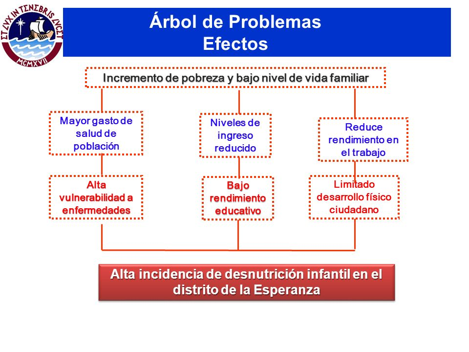 Árbol de Problemas Efectos