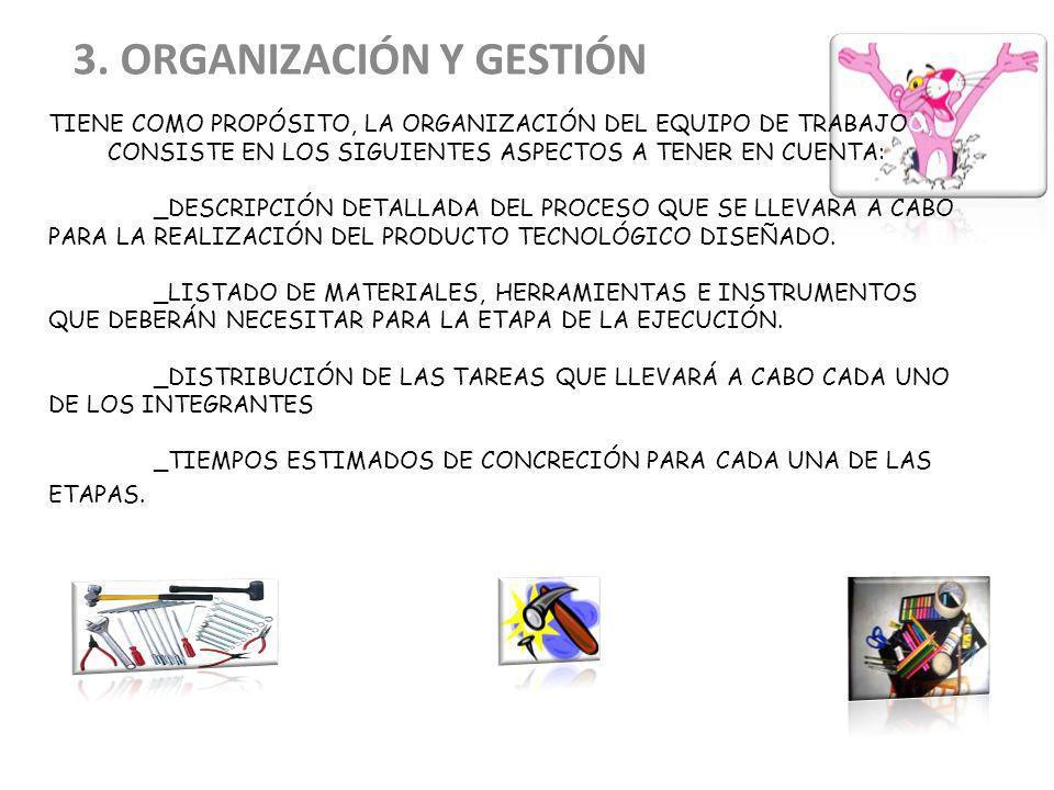 3. ORGANIZACIÓN Y GESTIÓN