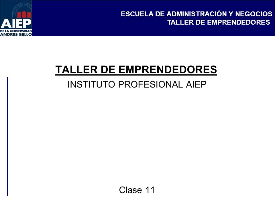 TALLER DE EMPRENDEDORES