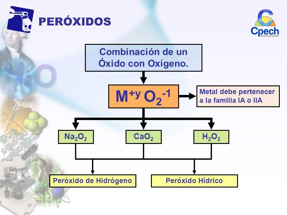 Combinación de un Óxido con Oxígeno.