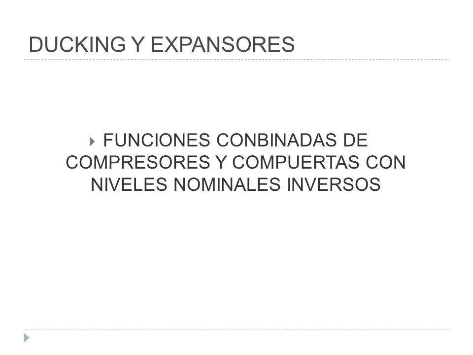 DUCKING Y EXPANSORESFUNCIONES CONBINADAS DE COMPRESORES Y COMPUERTAS CON NIVELES NOMINALES INVERSOS.