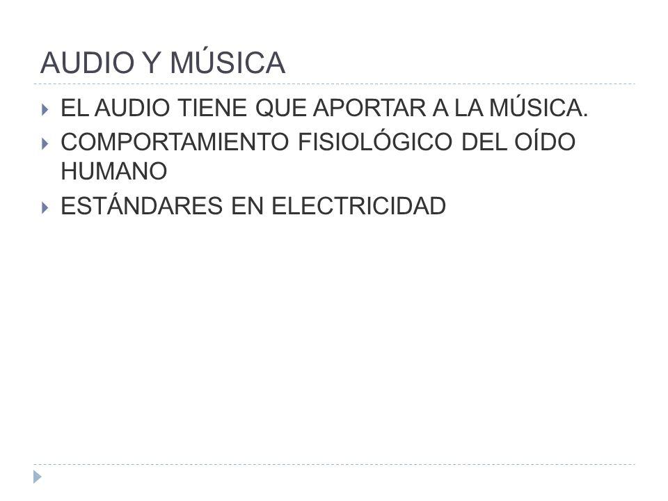 AUDIO Y MÚSICA EL AUDIO TIENE QUE APORTAR A LA MÚSICA.