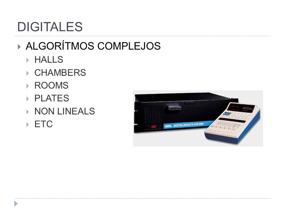 DIGITALES ALGORÍTMOS COMPLEJOS HALLS CHAMBERS ROOMS PLATES NON LINEALS