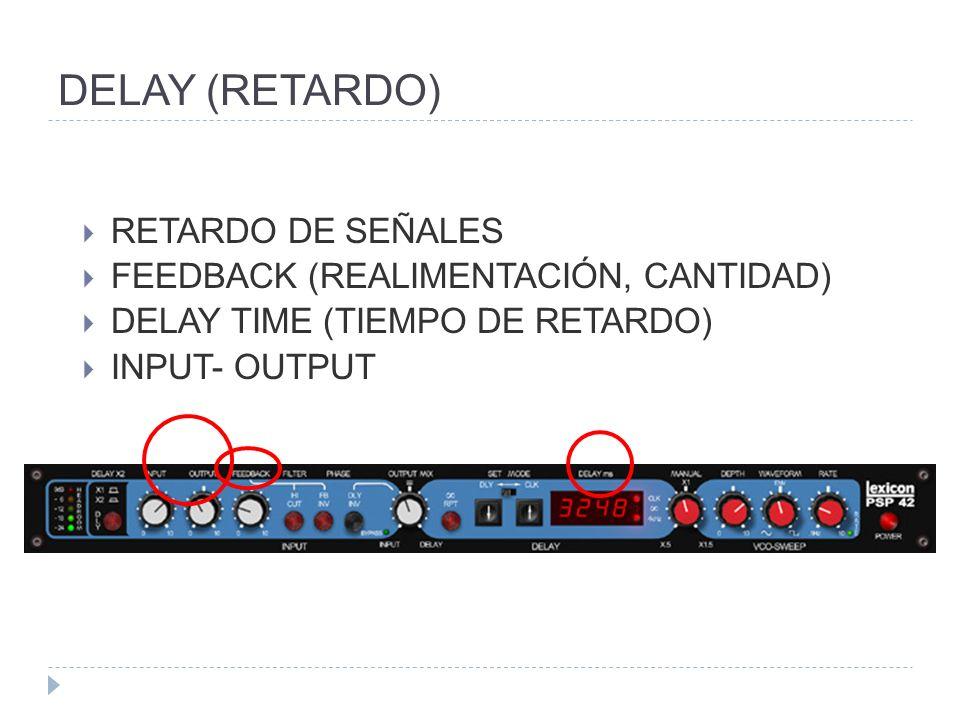 DELAY (RETARDO) RETARDO DE SEÑALES FEEDBACK (REALIMENTACIÓN, CANTIDAD)