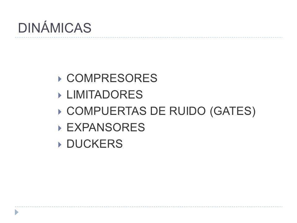 DINÁMICAS COMPRESORES LIMITADORES COMPUERTAS DE RUIDO (GATES)