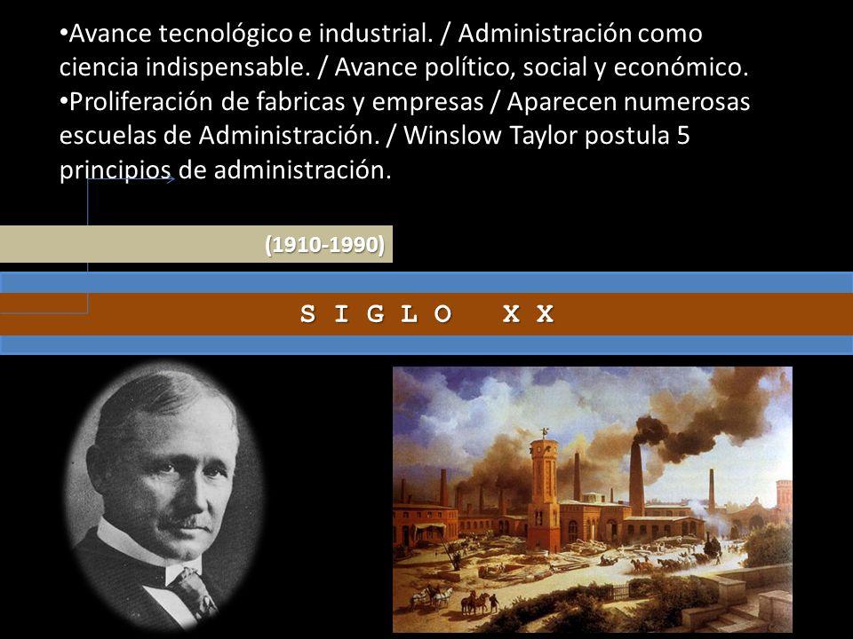 Avance tecnológico e industrial
