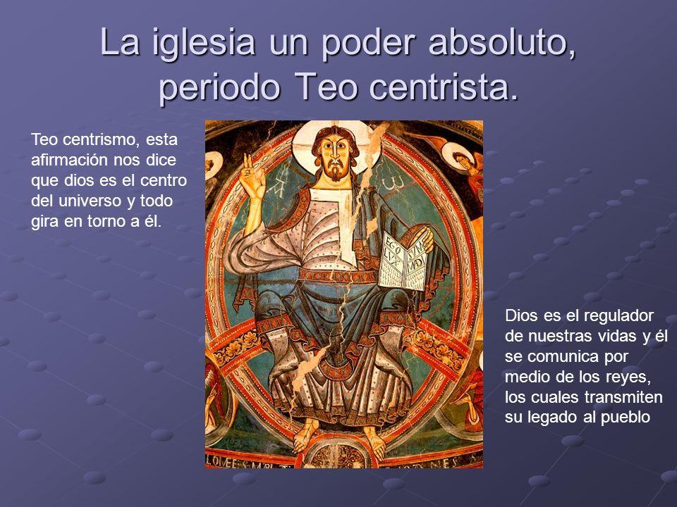 La iglesia un poder absoluto, periodo Teo centrista.