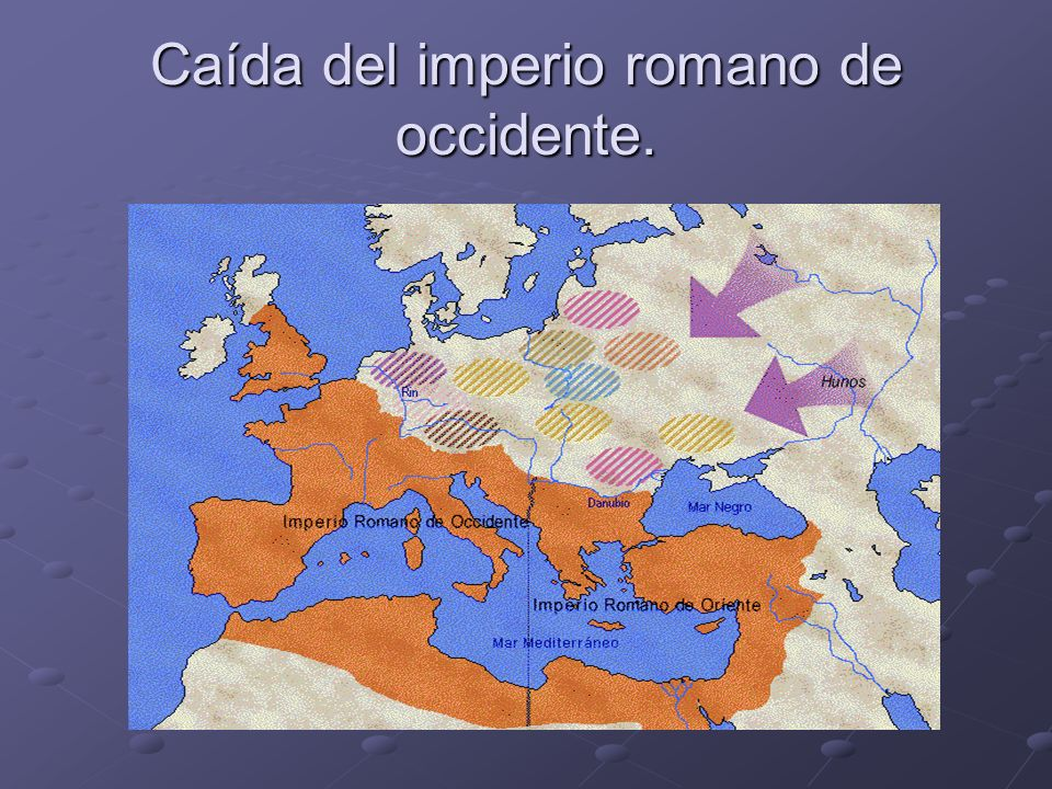 Caída del imperio romano de occidente.