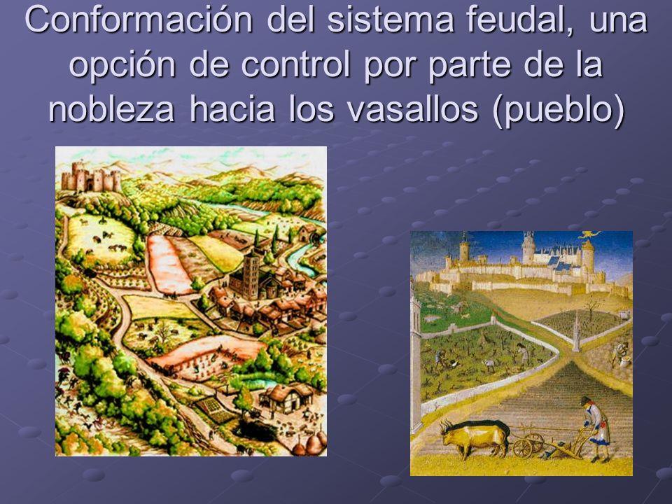 Conformación del sistema feudal, una opción de control por parte de la nobleza hacia los vasallos (pueblo)