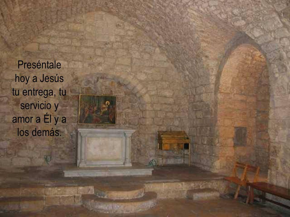 Preséntale hoy a Jesús tu entrega, tu servicio y amor a Él y a los demás.