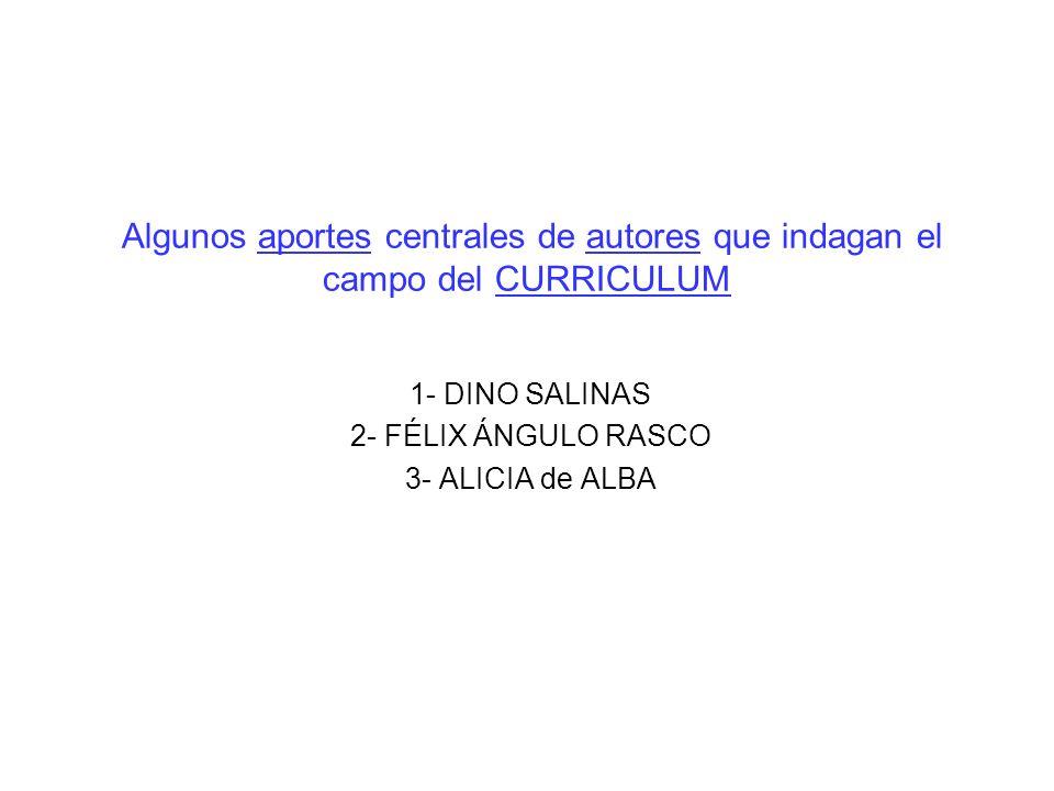1- DINO SALINAS 2- FÉLIX ÁNGULO RASCO 3- ALICIA de ALBA