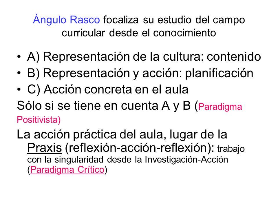 A) Representación de la cultura: contenido