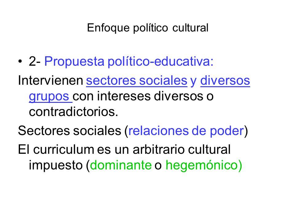 Enfoque político cultural