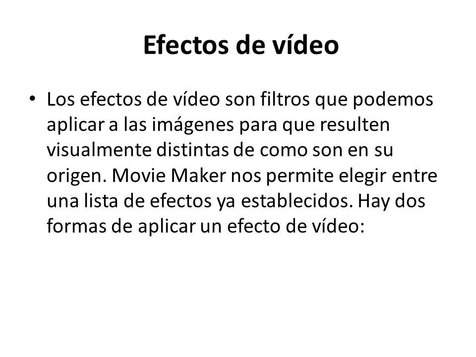 Efectos de vídeo
