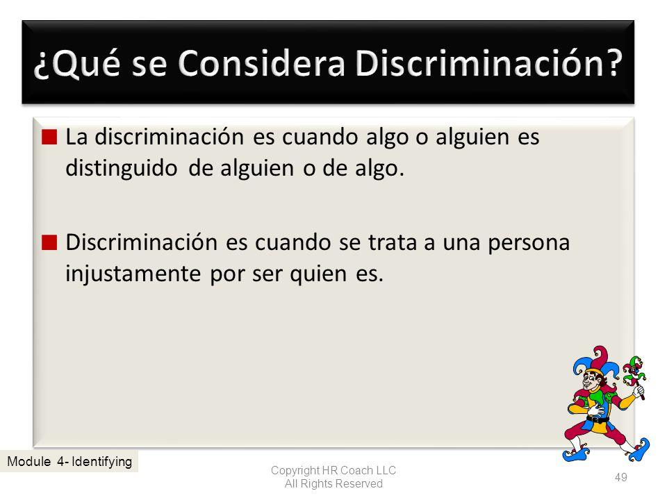 ¿Qué se Considera Discriminación