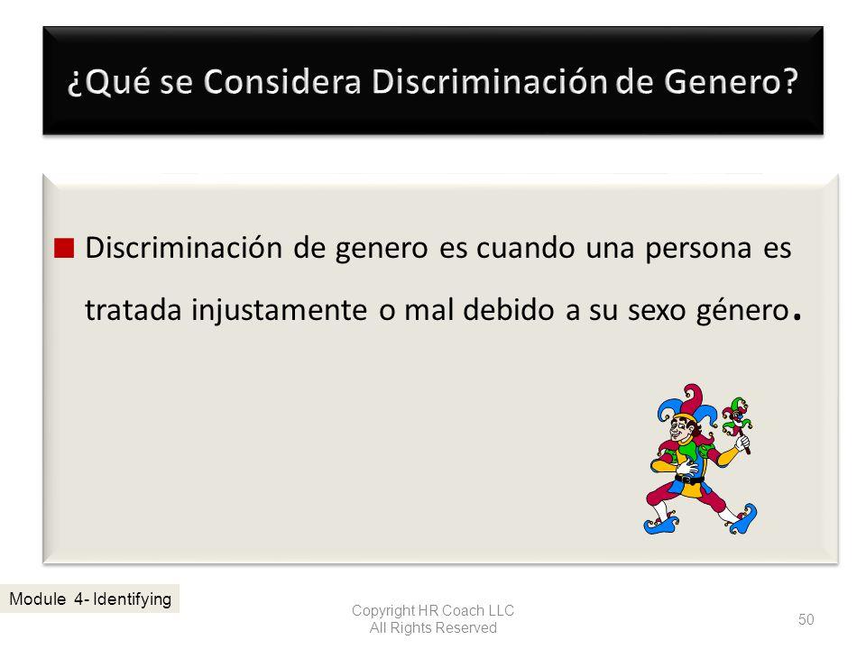 ¿Qué se Considera Discriminación de Genero