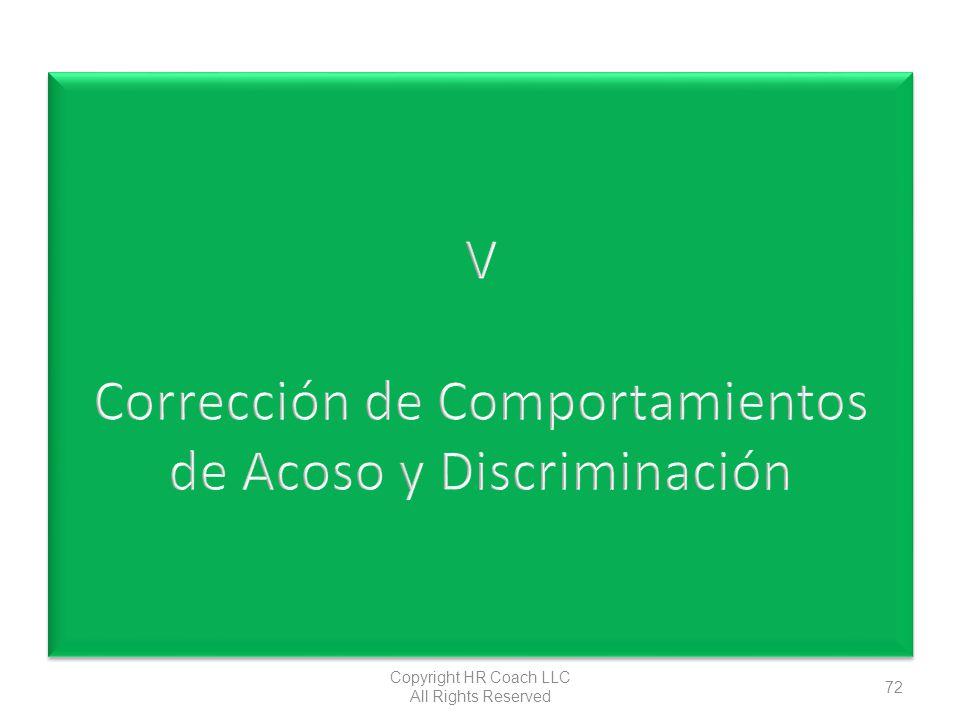 V Corrección de Comportamientos de Acoso y Discriminación