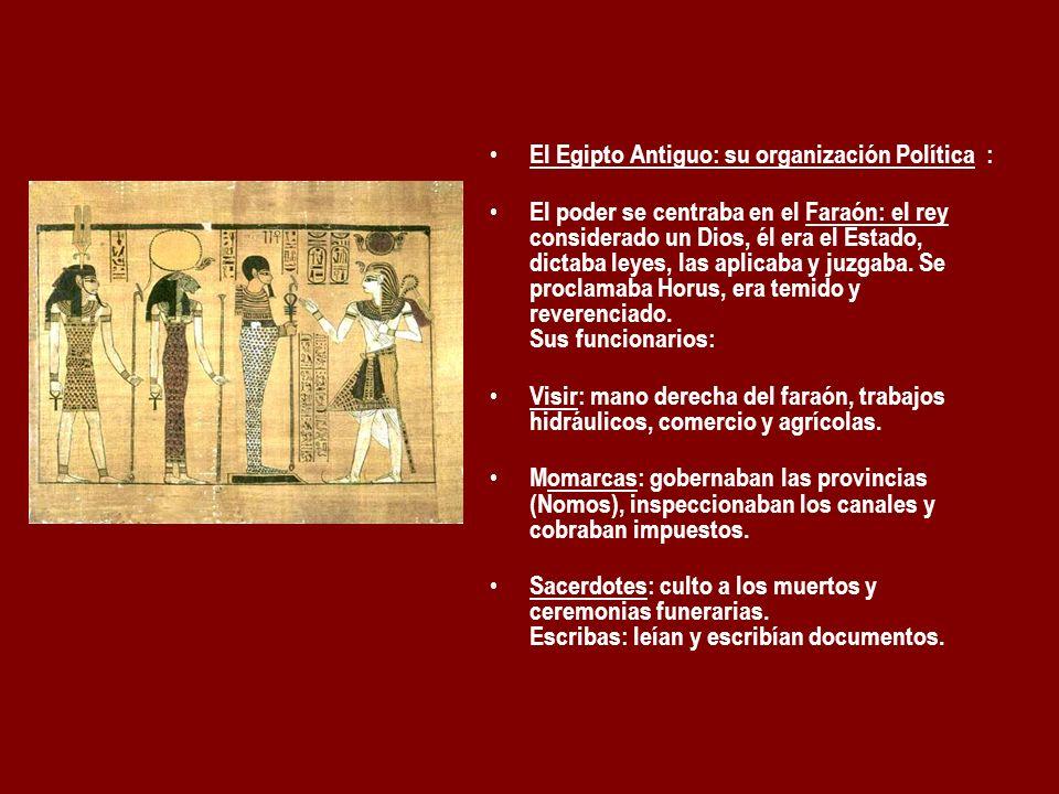 El Egipto Antiguo: su organización Política :