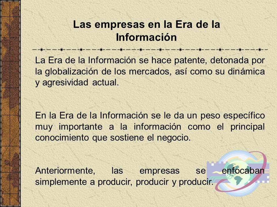 Las empresas en la Era de la Información