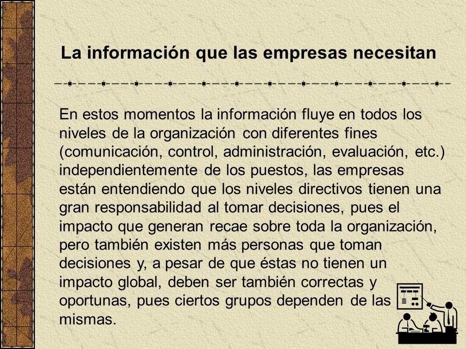 La información que las empresas necesitan