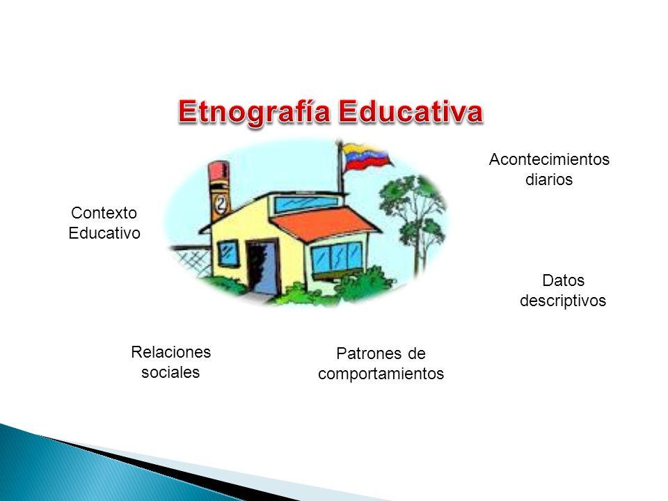 Etnografía Educativa Acontecimientos diarios Contexto Educativo