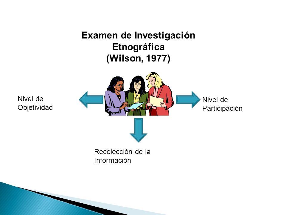 Examen de Investigación Etnográfica