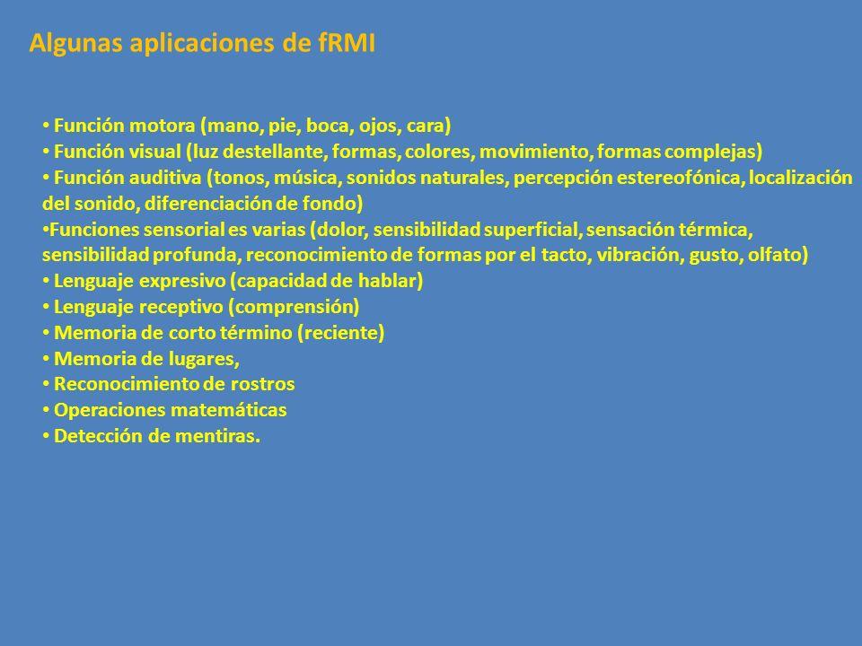 Algunas aplicaciones de fRMI