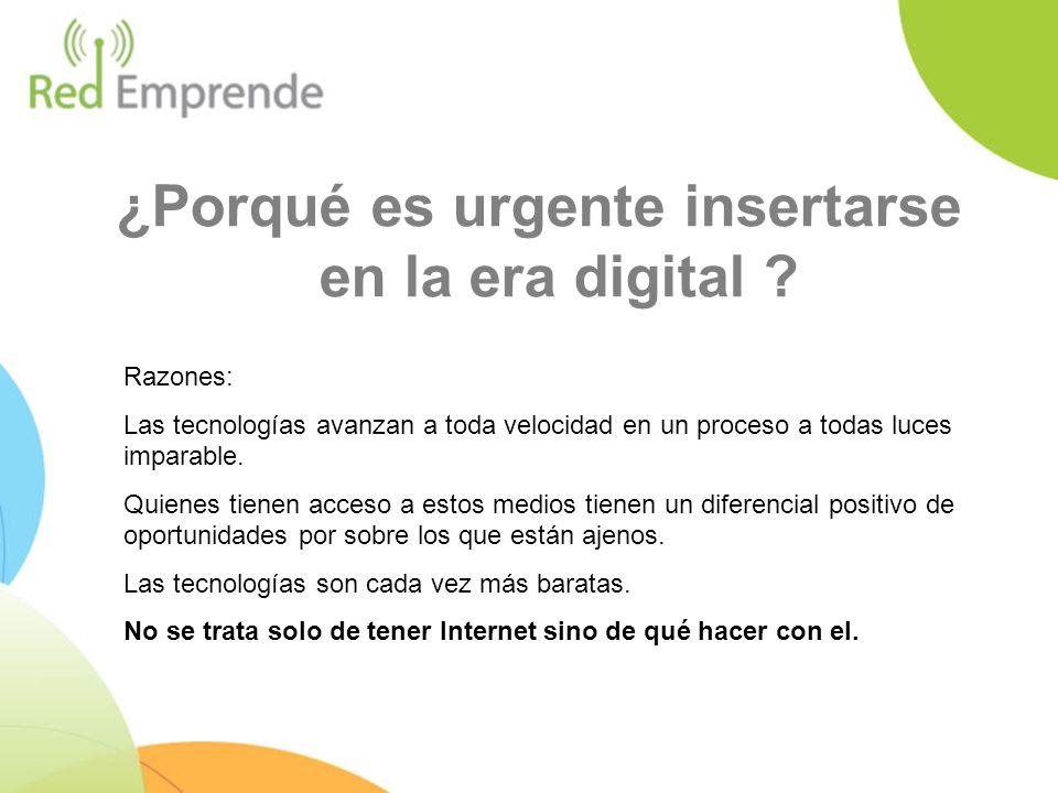 ¿Porqué es urgente insertarse en la era digital