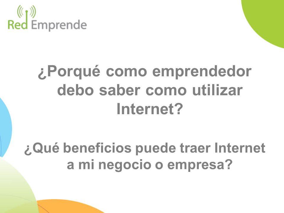 ¿Porqué como emprendedor debo saber como utilizar Internet