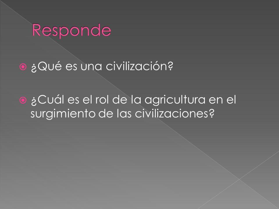 Responde ¿Qué es una civilización