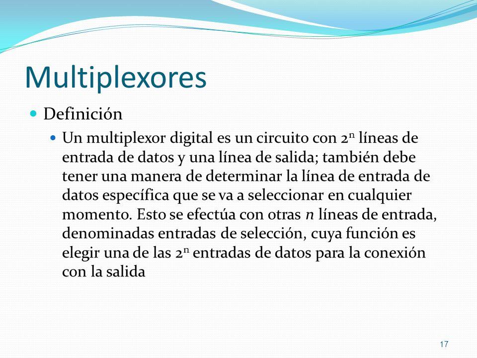 Multiplexores Definición