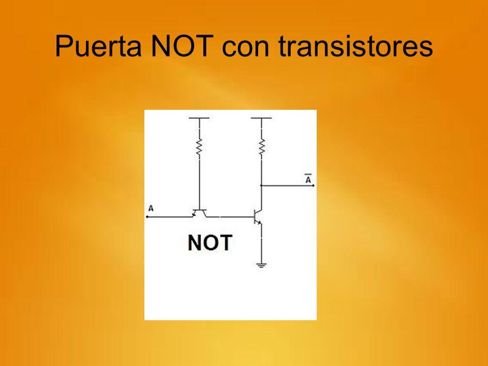 Puerta NOT con transistores