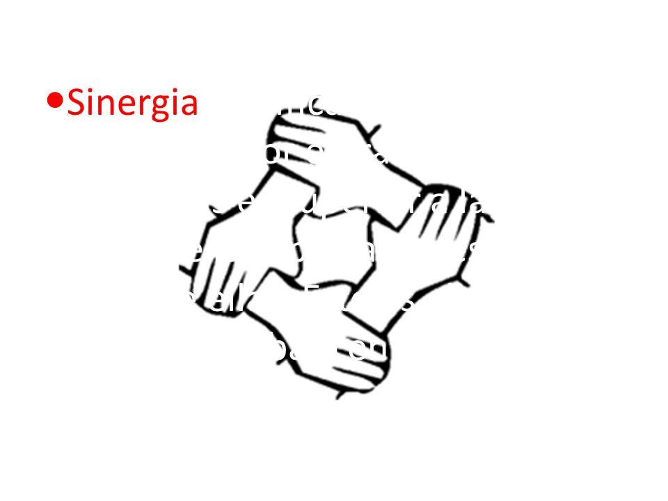 Sinergia significa que el resultado alcanzado por el trabajo de varias personas es superior a la simple suma de las aportaciones de cada una de ellas.