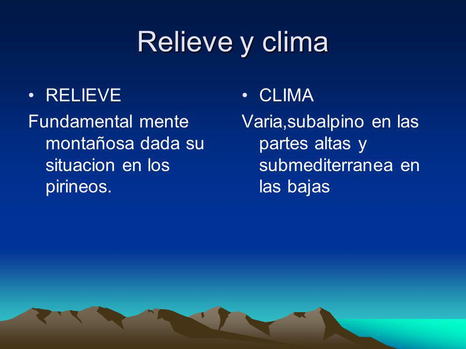 Relieve y clima RELIEVE