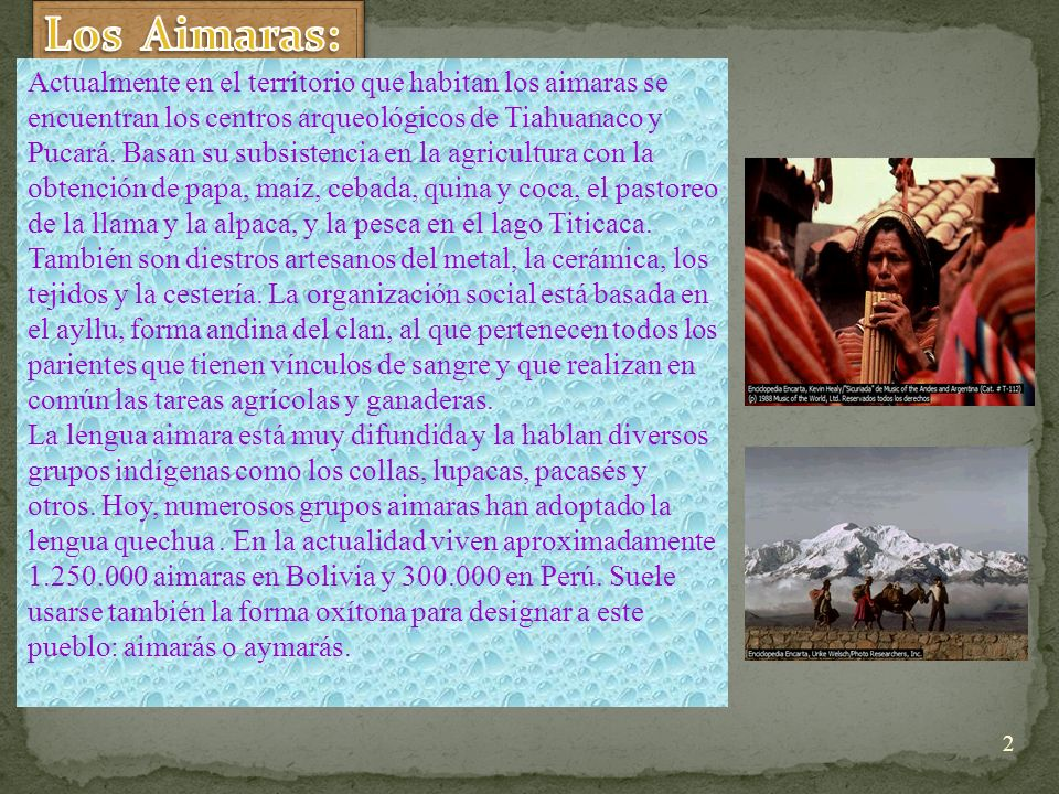 Los Aimaras: