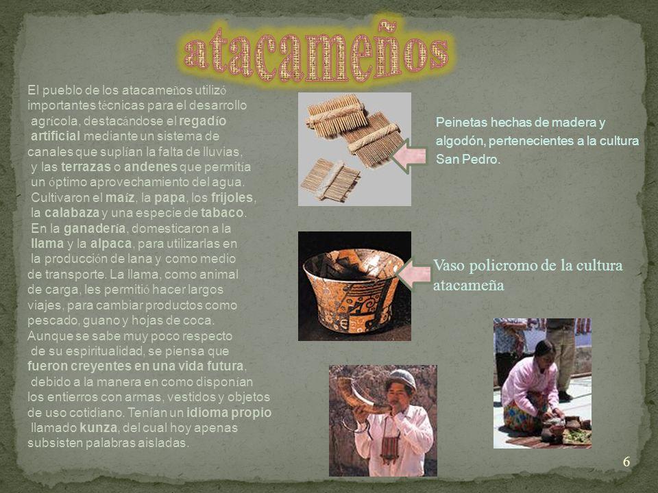 atacameños Vaso policromo de la cultura atacameña