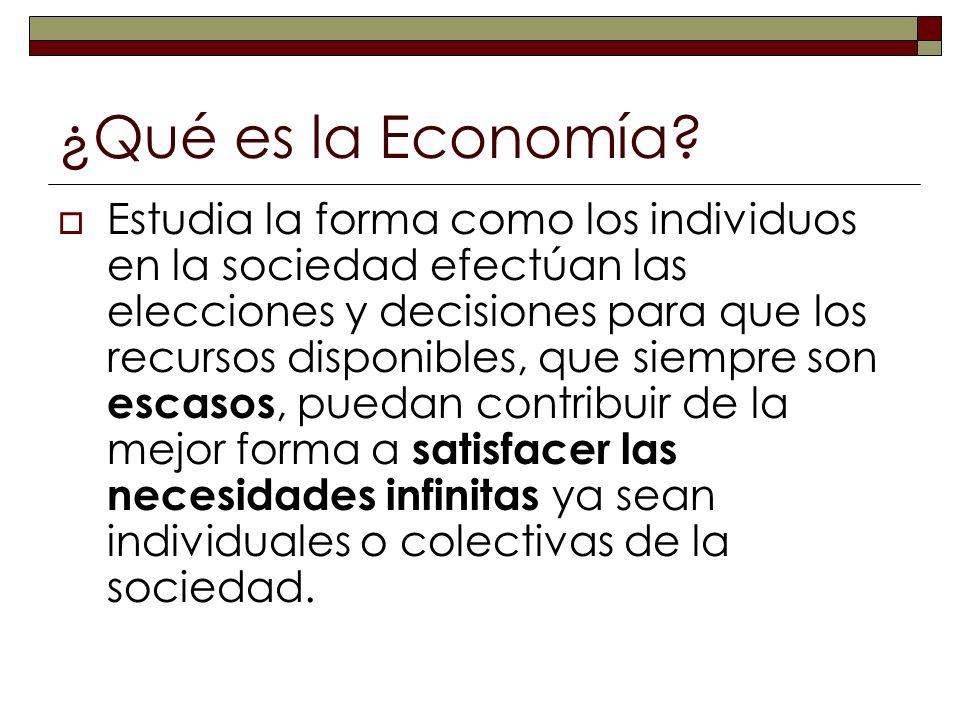 ¿Qué es la Economía