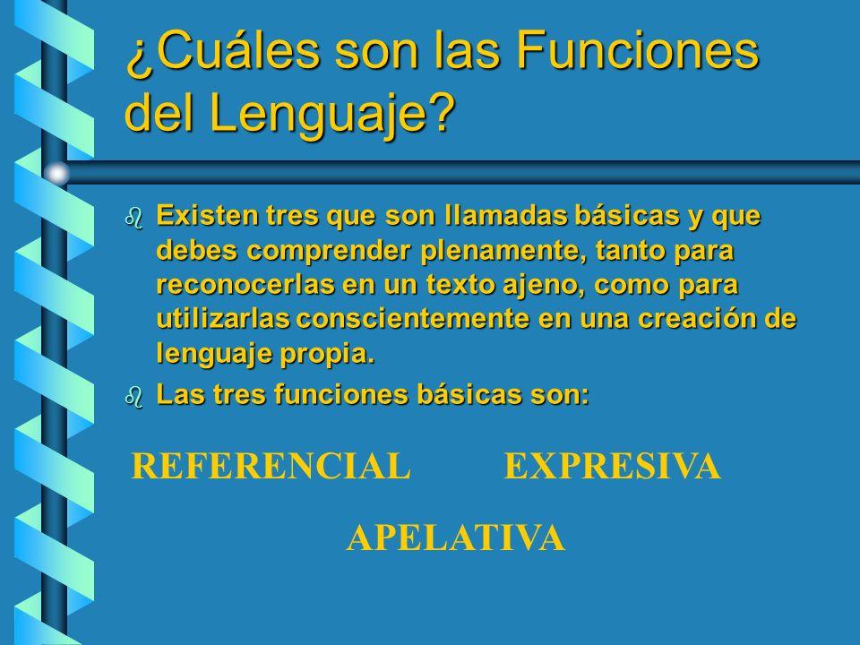 ¿Cuáles son las Funciones del Lenguaje